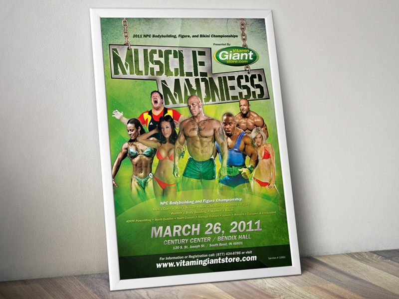 Muscle Madness Event Poster by Brandon Tabor