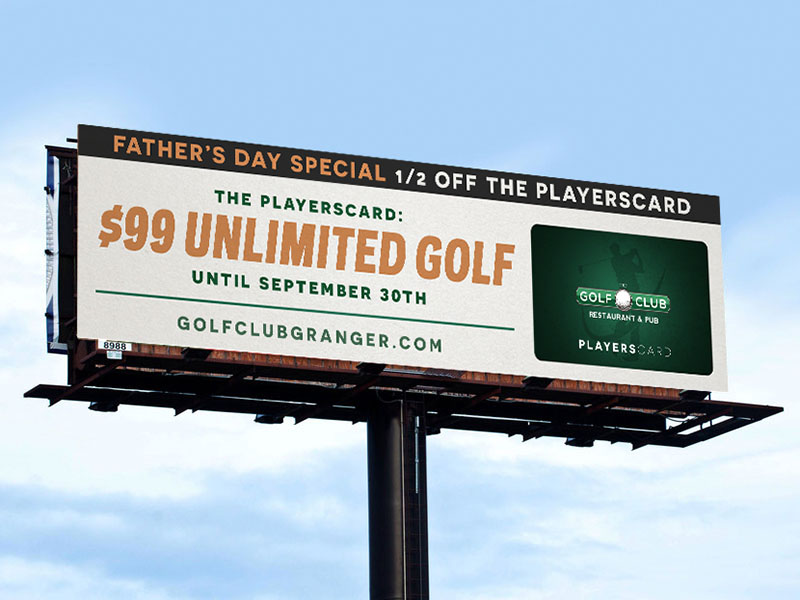 Golf Club Billboard Ad