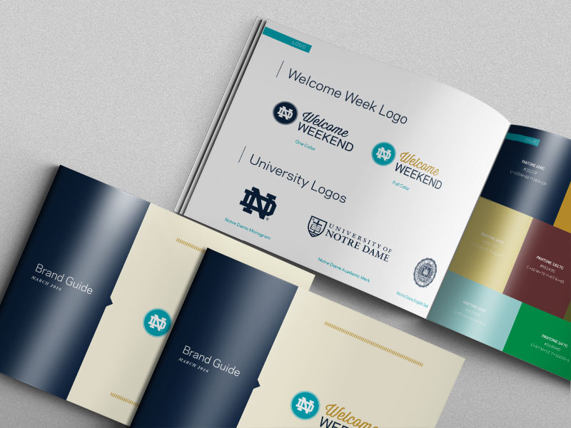 Notre Dame Welcome Weekend Brand Guide