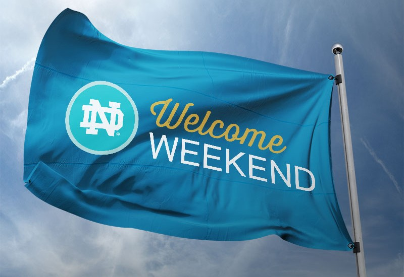 Notre Dame Welcome Weekend Logo