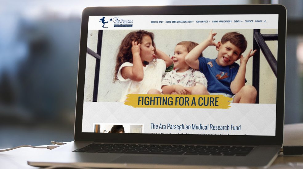 Ara Parseghian Medical Research Fund Website